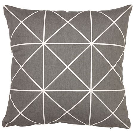 Living & Co Cushion Printed Triangles Grey