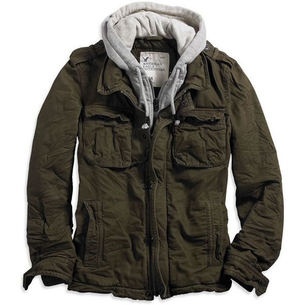 Serious warmth meets serious style. Features: Sturdy cotton canvas, Faux zip-up hoodie attached, Thick quilted lining, Large front flap pockets, Double zipper f...