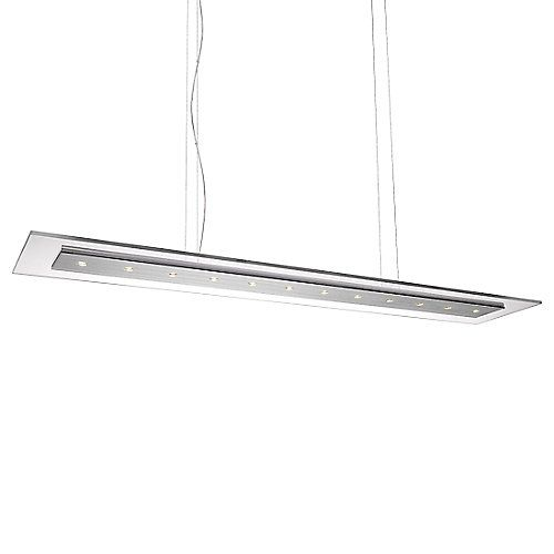 Welcome to the modern world where ceiling lights are constantly being redefined and redesigned to complement exponential advancements in technology. The Philips Matrix LED Linear Suspension is a hallmark, a beacon of such design with its flat, Brushed-Nickel finished body and surrounding clear glass frame. It contains 12 equidistant high output LED light sources, all of which are dimmable with a low-voltage electronic dimmer (available separately) and last for over 20,000 hours of usage…