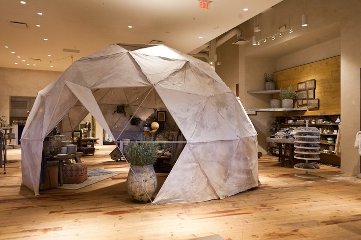 geodesic dome inside #Anthropologie store  #GlenMills