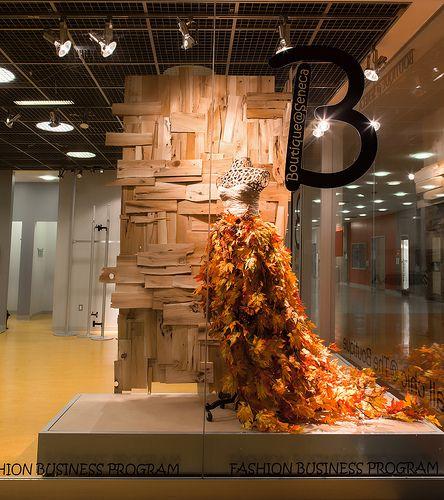 Visual Merchandising Arts fall window displays 2013. School of Fashion, Seneca College.