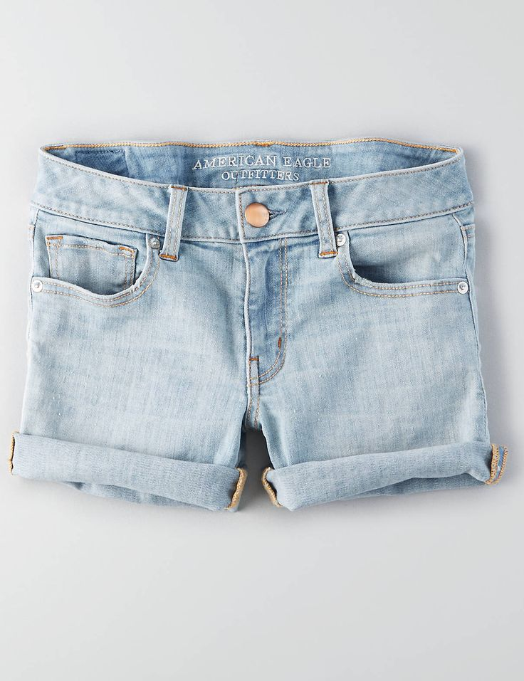 AEO Denim X Midi Short , Lovely Light | American Eagle Outfitters $44.95
