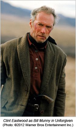 "Clint Eastwood as Will Munny in ""Unforgiven"" (1992)"