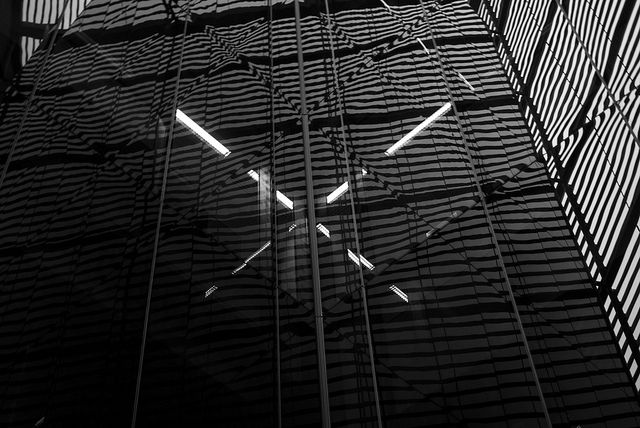 #abstract #light #reflection in the #glass wall of the shopping center at #londonbridge