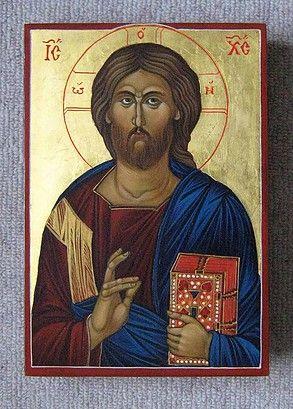 Icon of Jesus Christ Lifegiver painted by Marchela Dimitrova