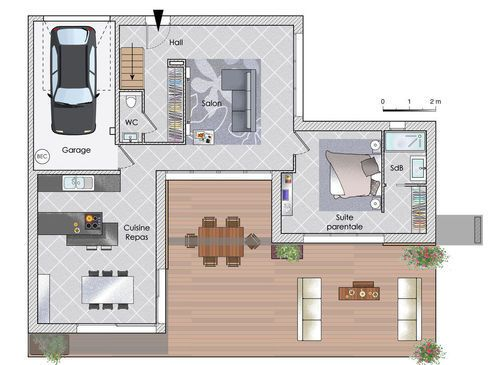 52 best plans images on Pinterest Home layouts, House template and - faire une maison en 3d