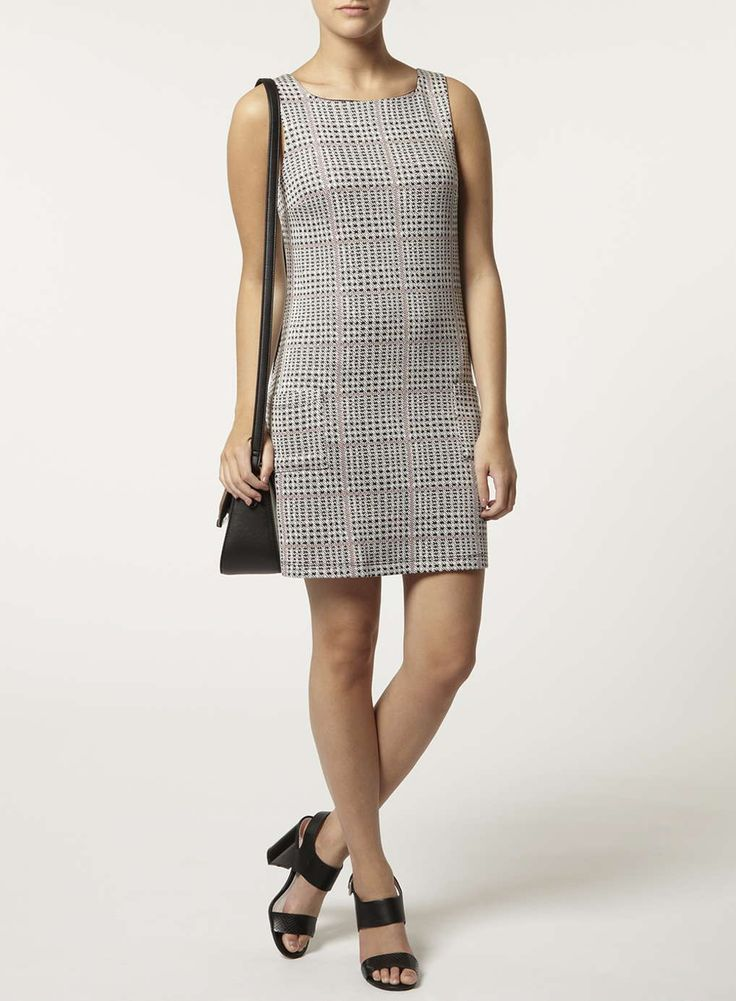 Photo 2 of Petite red check pinafore dress
