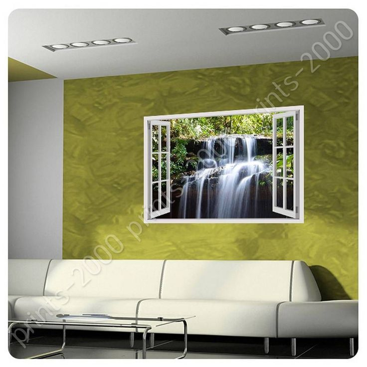 Poster Or Sticker Decals Vinyl Falls Fake 3D Window Posters Poster For Kitchen