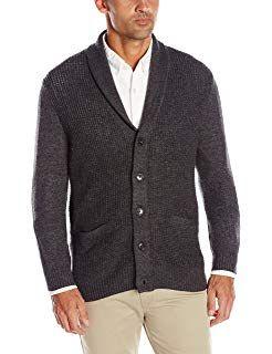 595a6f0ebe7 Haggar Men s Long Sleeve Shawl Collar Cardigan Sweater