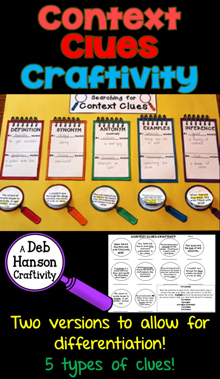 Free context clues worksheets fourth grade