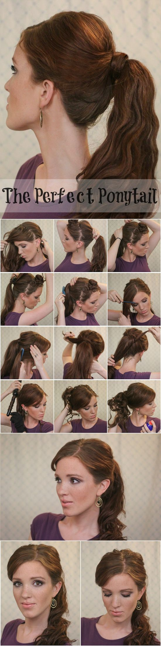 perfect and easy ponytail tutorial for girls in autumn 2013 with cheap hair extensions