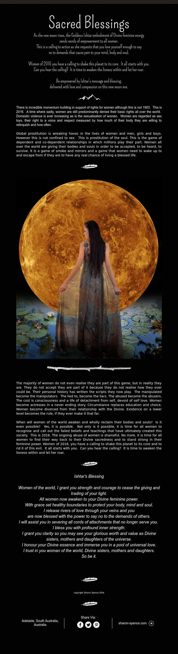 630 best book of shadows images on pinterest book of shadows male sacred blessings as the new moon rises the goddess ishtar embodiment of divine feminine energy sends words of empowerment to all women fandeluxe Image collections