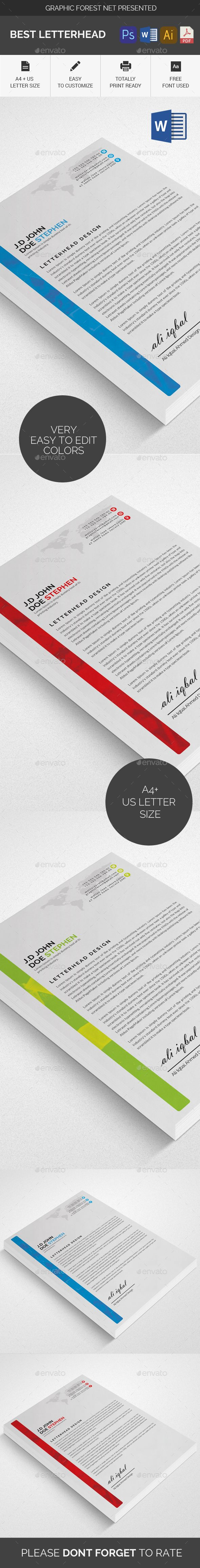 #Letterhead - #Stationery Print Templates Download here: https://graphicriver.net/item/letterhead/20452229?ref=alena994