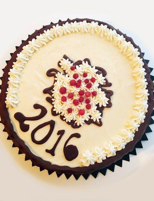 New years cake 2016 - nyårstårta