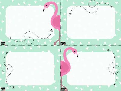 Étiquettes à modifier - Collection Flamants - http://laclassedekarine.blogspot.ca/