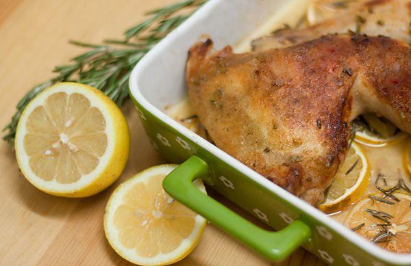 Рыжая книга кухонных пределов - Курица с лимоном и розмарином