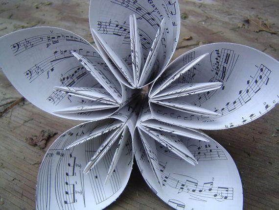 Huge Sheet Music Kusudama Paper Flower Great For Wedding