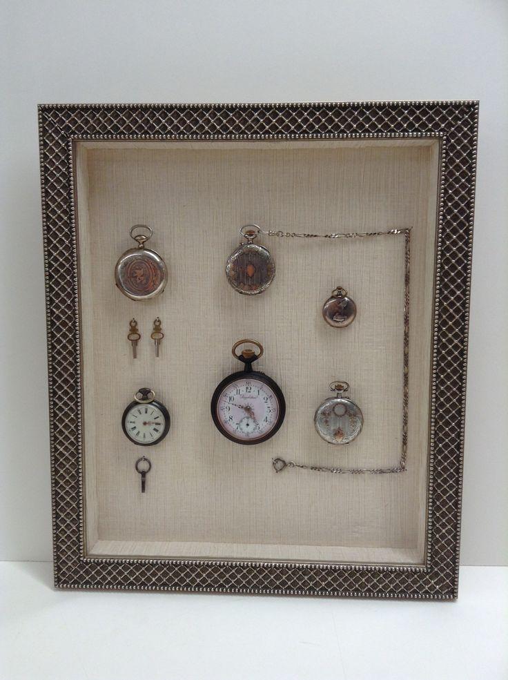 L'encadrement, ce n'est pas que des tableaux ou des dessins. Exemple ici avec l'encadrement de montres à gousset par l'atelier de Versailles (78)