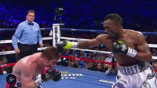 Love this GIF from Canelo-Trout last night. Boxing as both art and science.