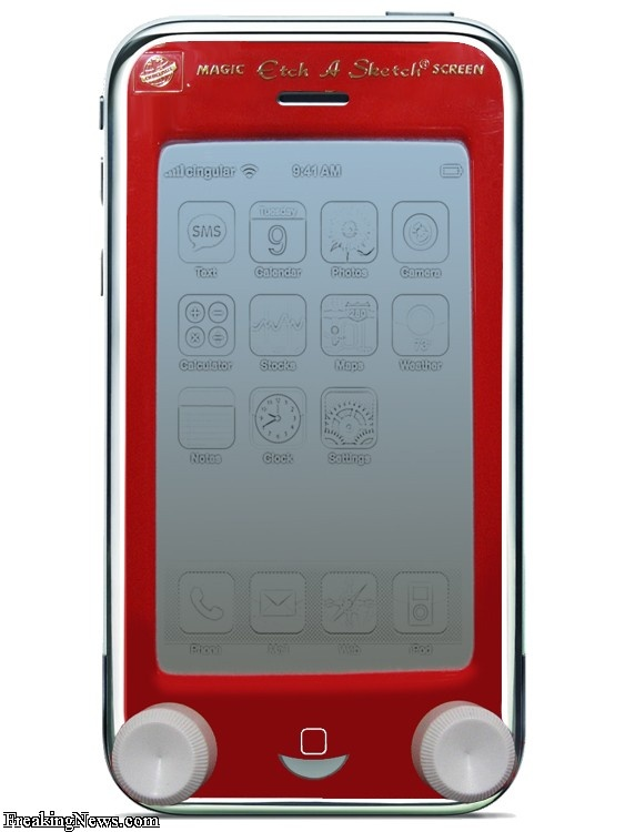 etch a sketch/iphone