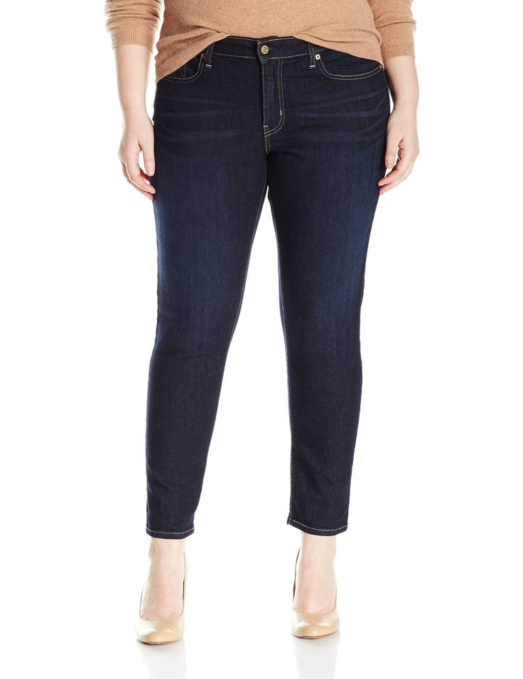 Signature by Levi Strauss & Co Women's Plus-Size Skinny Jeans, Stormy Sky, 22 Short