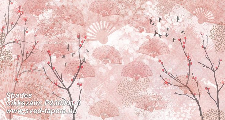 A delightful fantasy of Japan and cherry trees in bloom. ☞ #wall #decor #wallpaper #design #tapeta #foto #poster