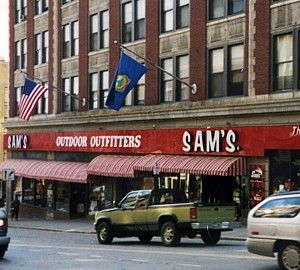 Sam's Outdoor Outfitters - I dare you to take a walk through the whole store and not find something that interests you! Makes me want to head for the trails as soon as I walk in.