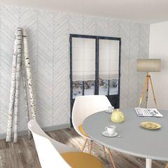 Optez pour une déco tendance et naturelle avec cet intissé AALBORG !  Il recouvre vos murs de planches de bois en chevron. La couleur blanche illumine votre intérieur et agrandit l'espace. Parfait pour une ambiance à la fois scandinave et chaleureuse !