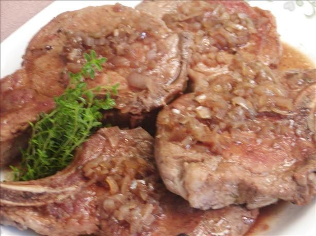 Pork Chops in Balsamic Vinegar and Shallot Sauce. Photo by Rita~ These ...