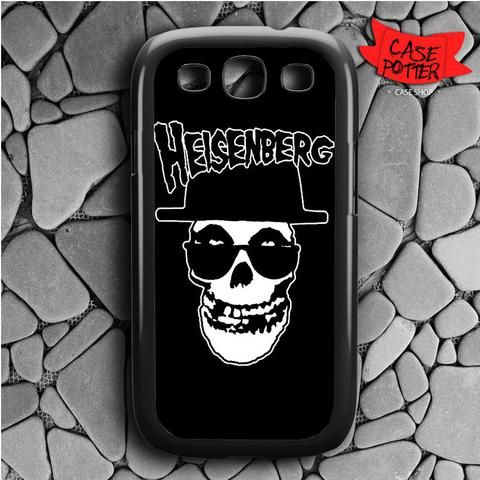 Black Heisenberg Skull Misfits Samsung Galaxy S3 Black Case