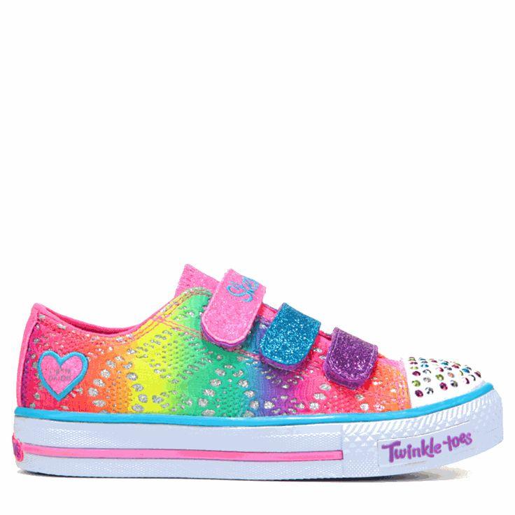 Skechers Kids' Twinkle Toes Rainbow Madness Sneaker Preschool Shoes (Multi) - 11.0 M