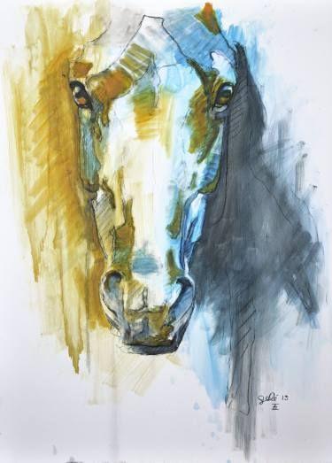 """Saatchi Art Artist Benedicte Gele; Painting, """"Alert I"""" #art"""