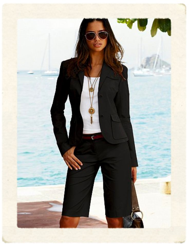 bermuda shorts suits for women | ... some amazing shorts suits which are becoming an instant classic