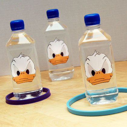 Donald Duck's Quacky Hoopla Game - fun game for kids to play and I love the Donald face! Might be fun with other character faces on the bottles too - Mickey or Minnie are more points. #disneyside