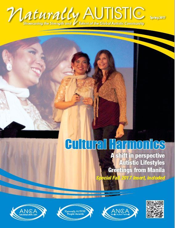 Spring Issue 2017Honored to showcase this year's 2016 International Naturally Autistic Peoples AWARD (INAP AWARD) recipient for Performing Arts, Vell Baria of the Philippines. Standing alongside Vell is Tammy Klein, our very special guest this year at the 2016 7th annual World Autism Festival – Tammy was the 2013 INAP recipient for the Performing Arts and Vell joins Tammy in the ranks of ANCA World Ambassadorship representing the Philippines. Visit our Global outreach pages for more…