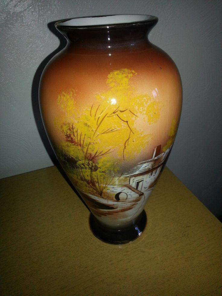 1902 Hand Painted Vase Portugal Estate Sale Finds