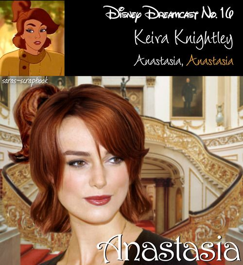 """Disney Dreamcast: Keira Knightley as Anastasia""...I could definately see this, only Anastasia isn't Disney, it's Dreamworks."