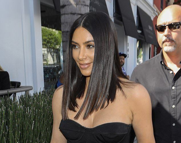 KIM KARDASHIAN SHOWS OFF HER NEW SHORTER HAIR AND AMAZING HOUR-GLASS FIGURE AS SHE STEPS OUT IN BEVERLY HILLS