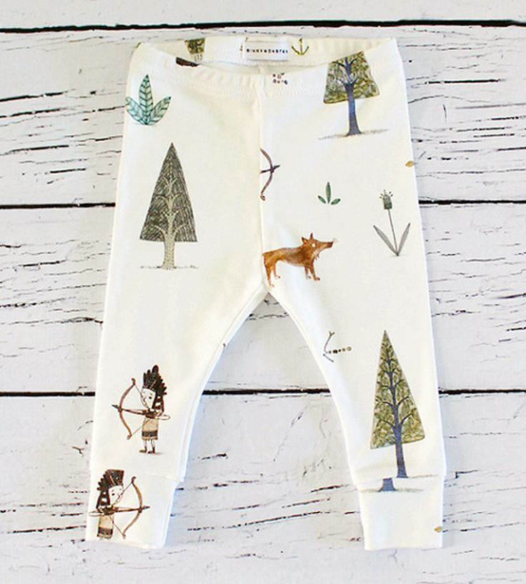 Woodland Baby Leggings | Dress up your little one in his (or her) own exploring gear ne... | Baby & Toddler Bottoms