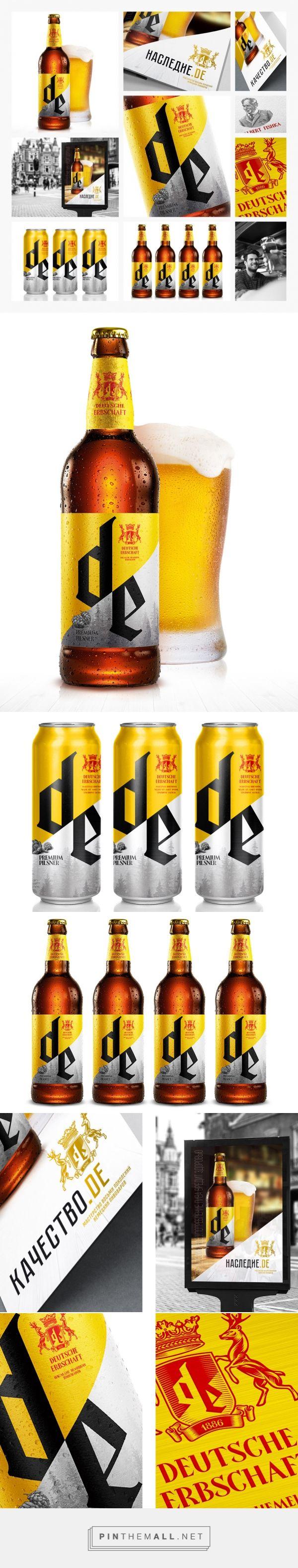 Deutschе Erbschaft German Beer Packaging Design by KIAN - http://www.packagingoftheworld.com/2016/06/deutsch-erbschaft-german-heritage.html