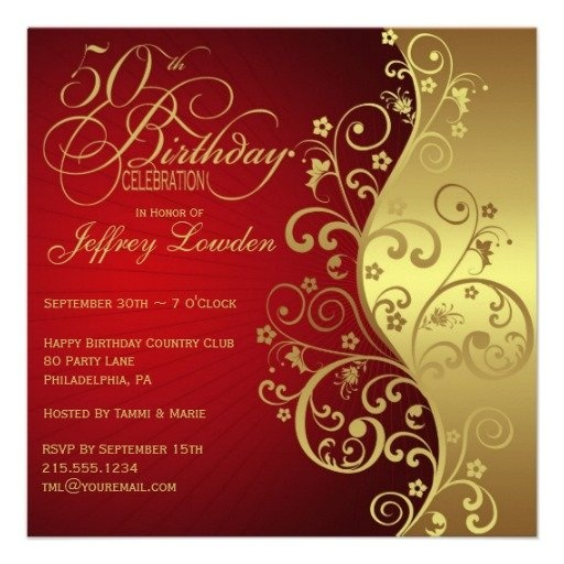 Best 20+ 50th birthday party invitations ideas on Pinterest ...