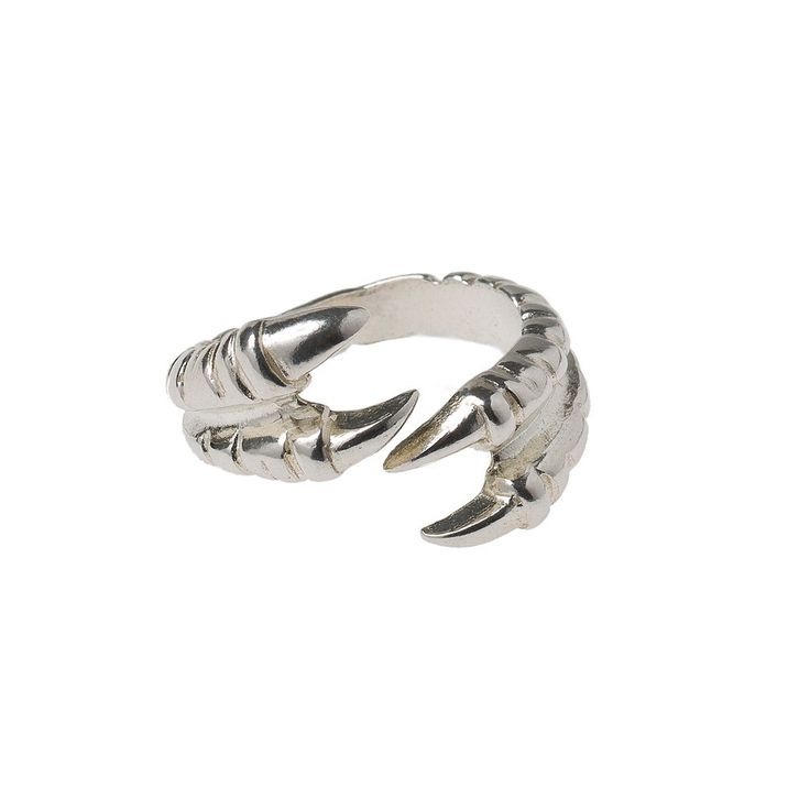 CLAW Ring Double-Silver | Maria Nilsdotter