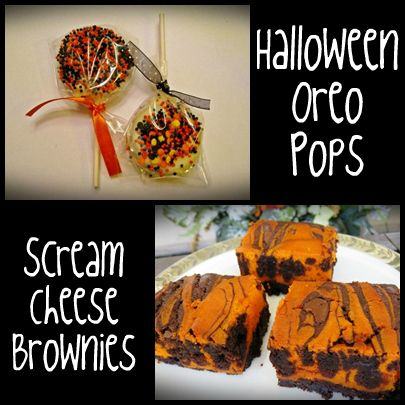 Halloween Recipes: Scream Cheese Brownies & Oreo Cookie Pops: Brownies Oreo, Scream Cheese, Oreo Cookie Pops, Oreo Pop, Halloween Food, Halloween Recipes, Cheese Brownies, Brownie Oreo Cookie