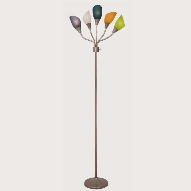 Home Design Medusa Silver Floor Lamp with Multicolor Acrylic Shades (Silver) - Store Online for Your Live and Style