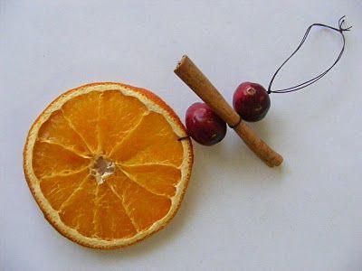 December ~ Advent ~ Week Three: The Light of Bird & Beast ~ Dried Orange Ornaments