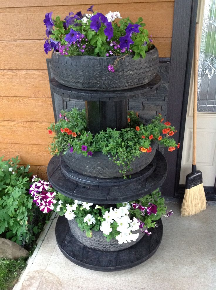 Garden Ideas Using Old Tires 165 best old tires images on pinterest | recycled tires, diy and