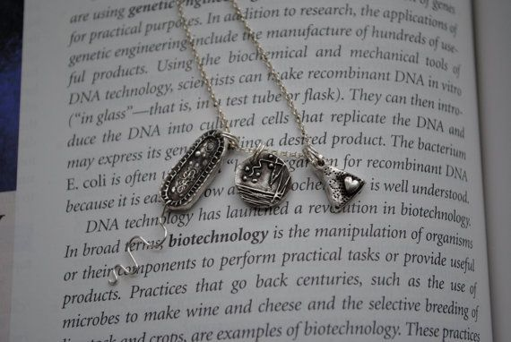 Microbiology Charm Necklace!!!    **oooo eww i cant believe they make these lol!  <3 love my job!