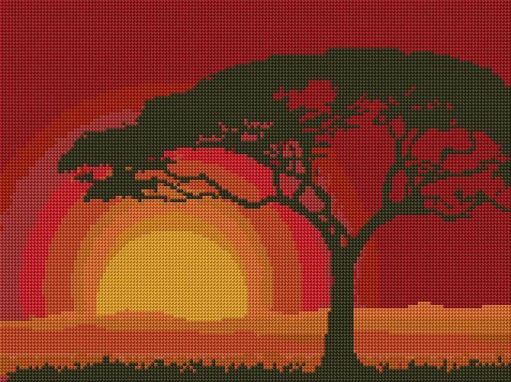 Cross Stitch | Tree xstitch Chart | Design