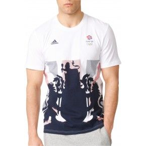 adidas Team GB Short Sleeve Mens Supporters Top - White