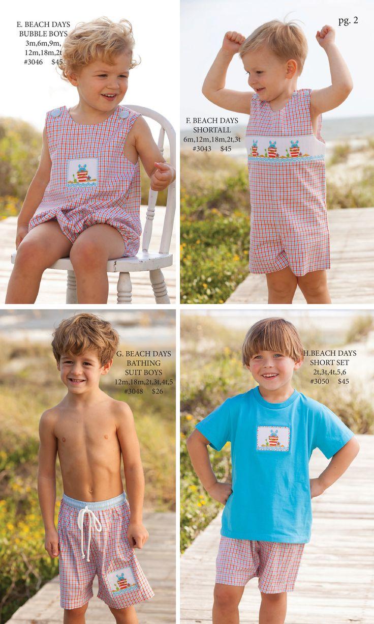 Shrimp and Grits Kids Spring 16'' Catalog big boy outfit